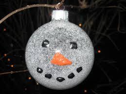 craft klatch snowman glitter ball ornament craft tutorial