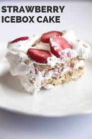 strawberry icebox cake recipe mom spark mom blogger