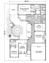 small courtyard house plans floor plan of european house plan 95645 courtyard homes