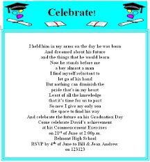 college graduation invitation wording cimvitation