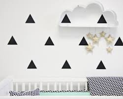 black triangle vinyl decal stickers caden lane black triangle vinyl wall stickers for the nursery or kids room