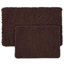 Shaggy Bathroom Rugs Lavish Home Shag Chocolate 21 In X 32 In Memory Foam 2