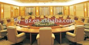 modern large and round wooden conference table buy conference
