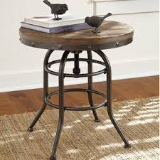 adjustable height end u0026 side tables you u0027ll love wayfair
