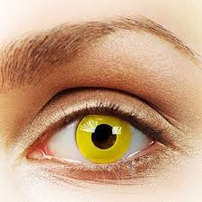 yellow contacts yellow contact lens yellow colored contact