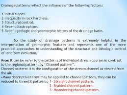 definition pattern of drainage geomorphology lect no 12 2014 valleys and drainage patterns