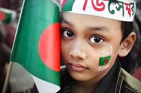 Bangladesi Flag Little Boy With Bangladesh Flag On Bangladesh Independence Day
