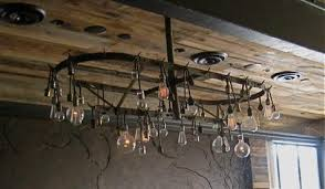 Hanging Bulb Chandelier A Rustic Chandelier With Nostalgic Edison Bulbs Blog