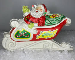 santa sleigh for sale plastic santa sleigh etsy