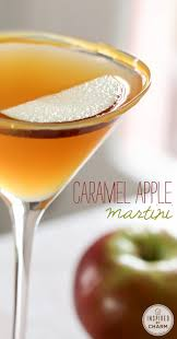caramel apple martini martinis apples and beverage