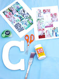 how to make a photo collage on a big letter how tos diy