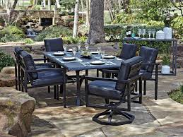 Woodard Belden Padded Sling Aluminum Furniture Outdoor Furniture Metropolis Sectional With 2 Mini