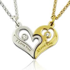 birthstones necklace for engraved birthstones breakable heart necklace for couples