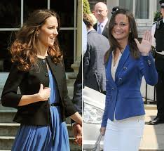 royal wedding kate and pippa opt for high street hellomagazine com