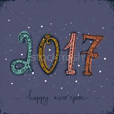 Happy New Year Board Decoration by Happy New Year 2017 Greeting Card Design Element Decorative