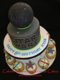 epic star wars death star birthday cake and cupcakes pic
