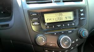 2004 honda accord radio problem