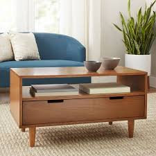 mid modern coffee table better homes gardens flynn mid century modern coffee table pecan