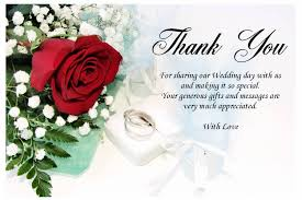 wedding message card wedding thank you gifts and messages