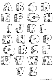 graffiti abc alphabets az bubble letters coloring pages printable