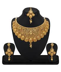 women necklace set images Rg fashions jewellery golden necklace set for women set of 3 jpeg