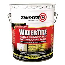 zinsser 1 gal watertite mold and mildew proof white oil based