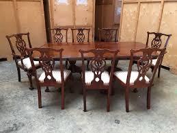 antique vintage georgian style mahogany large dining table u0026 8