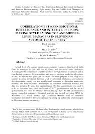 quotes intuition logic correlation between emotional intelligence and intuitive