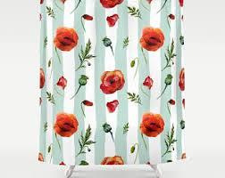 Wizard Of Oz Shower Curtain Poppy Shower Curtain Etsy
