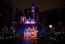disney electric light parade tears of joy in crowd as main street electrical parade rolls