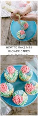flower cakes how to make mini flower cakes cookies