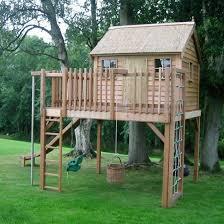 Backyard Fort Ideas Backyard Playhouse Gardening Design
