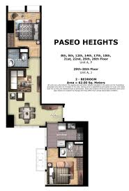 2 bedroom condo floor plans paseo heights paseo heights 2 bedroom floor plan home condo