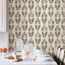 temporary wall paper nu2459 folk tulip peel and stick temporary wallpaper by