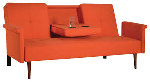 Orange Sofa Bed by Modern Linen Adjustable Futon Orange Modern Futons By Adarn