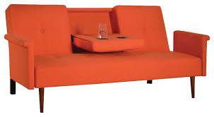 Modern Futon Sofa Bed Orange Futons Furniture Shop