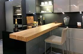 cuisine plan de travail bois massif sur mesure épaisflip design bois