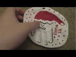 how to make a santa handprint ornament