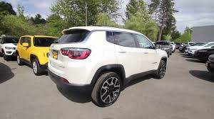 white jeep compass 2017 jeep compass limited 4x4 pearl white ht629110 redmond