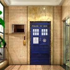Tardis Interior Door Doctor Who Wall Decal Tardis Fathead Style Door Bathroom Creative