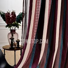 Coloured Curtains Blackout Bedroom Striped Plum Coloured Curtains