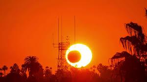Sunset Orange by Sunset Over Blue Ocean Timelapse Sun Setting Orange Sky 4k Time