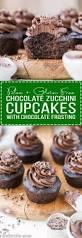paleo chocolate zucchini cupcakes with paleo chocolate frosting