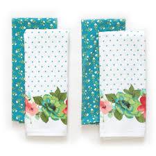 the pioneer woman vintage bloom kitchen towel set 4pk walmart com