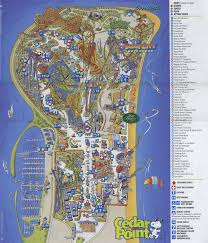 2007 World Map by Pics Ceader Ponit Ohio Cedar Point 2007 Map Memories