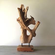 driftwood sculpture on stand driftwood sculpture driftwood and