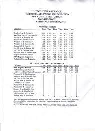 2013 maplewood jitney service changes to reflect new nj transit