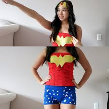 diy halloween costume 2017 diy wonder woman halloween costume youtube