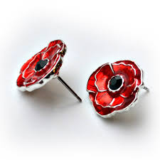 poppy earrings the royal canadian legion poppy stud earrings