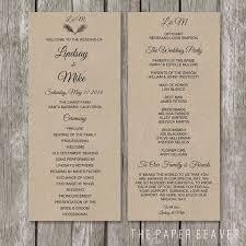 Wedding Ceremony Program Ideas One Page Wedding Ceremony Program Template Finding Wedding Ideas